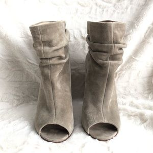 Chinese Laundry Peeptoe Suede Ankle Boots